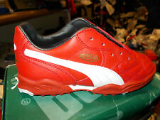 PUMA KING LEATHER BNWL AT £16 SIZ 1 2 3  5 OR 6.5 UK FLIP TONGUE IN GOLD