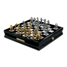 """FRANKLIN MINT $299 FOOTBALL HERO CHESS GIANTS OF THE GRIDIRON 19"""" BOARD 20LB"""