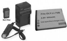 Battery +Charger for Olympus FE4020 FE4040 VG-110 VG120