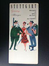 Rare ancien dépliant Brochure Stuttgart Griffel Allemagne TBE