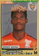 185 DIDIER NDONG # GABON ROOKIE  FC.LORIENT STICKER PANINI FOOT 2016