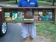 vintage fishing shadow box assemblage Art Home Salvage Sport decor display