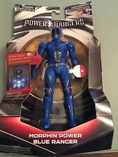 Power Rangers Movie 2017 Blue Ranger 17.5H cm Figure - Light up morphin grid