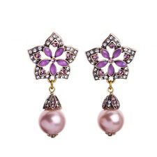 ZARA BEAUTIFUL PINK PEARL DROP DANGLE  EARRINGS NEW