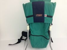 Tough Traveler Child Baby Carrier Hiking Backpack - Green/Blue - Made in USA