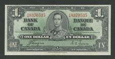 CANADA - KGVI  $1  1937  P58e  About EF  ( Banknotes )