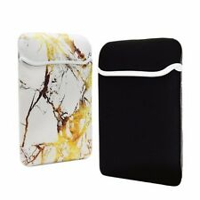 "12-Inch White/Gold Marble Reversible Sleeve for 12"" Macbook/ Chromebook/ Laptop"