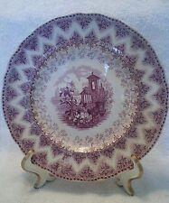 Samuel Alcock Co. England (1830-1859) VANDYKE Mulberry Purple Plate Excellent