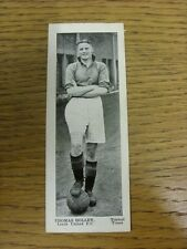 "1938 Topical Times: Leeds United - Thomas Holley [Stars Of Today, Approx 2""x 5""]"