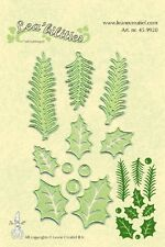 Lea'bilities Cutting Embossing Die Stencil HOLLY LEAVES, PINE BRANCHES  45.9920