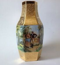 "P.S.A.A. BAVARIA Hand Painted Vase Heavy Gold Gild 10"". BEAUTIFUL!!!"
