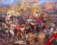BATTLE OF GRUNWALD PAINTING POLISH LITHUANIA TEUTONIC WAR ART REAL CANVAS PRINT