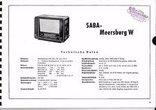 Service Manual-Anleitung für Saba Meersburg W Baujahr 1950/51