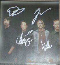 "FOO FIGHTERS HAND SIGNED 5"" X 5"" CD COLOUR PHOTO"