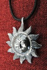 Sun Sol Mystic Spiritual Pagan Wiccan Harmony Balance Pewter Pendant Necklace