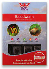 BCUK Frozen Fish food-11 x 100g blister packs--BLOODWORM