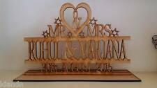 """Free standing Personalised """"MR & MRS"""" blank 3mm MDF craft sign"""