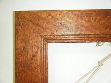 """BEAUTIFUL ANTIQUE 1800s SOLID TIGER OAK WOOD LARGE PICTURE WALL FRAME 25"""" X 22"""""""