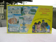 Vtg 1982 All About Town Board Game Montgomery Alabama Limited Edition Sealed!