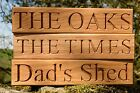 Personalised Oak House Sign, Carved, Custom Engraved Outdoor Wooden Name Plaque