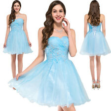 Beaded Short Formal Cocktail Ball Gown Evening Bridesmaid Prom Party Dress Sz 10