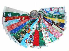 """20 2.5"""" Christmas Medley Quilting Fabric Jelly roll strip 20 Different Prints#2"""