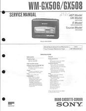Sony Original Service Manual für WM- GX 506/508