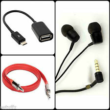 3 in 1 COMBO OFFER Micro USB OTG Cable,Flat Aux Cable,Headset Headphone Earphone