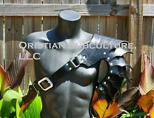 Single Leather Basic Gothic Spaulder Armor Ren SCA articulated cosplay Gladiator