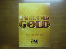 ONE PIECE FILM GOLD MOVIE FLYER Mini Poster Chirashi Japanese 27-12-3