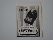 advertising Pubblicità 1941 MACCHINA PER SCRIVERE TOTALIA LAGOMARSINO