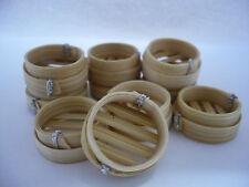 10 Pcs. Dollhouse Miniatures  Dim Sum  Bamboo Baskets Deco Chinese Food (2 cm)