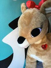"Build A Bear Rudolph The Red Nose Reindeer 18"" Clarise Clarice Light Up Plush"