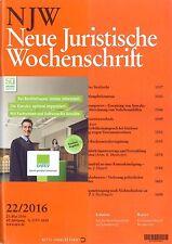 NJW 22/2016 - Neue Juristische Wochenschrift  ++ wie neu +++