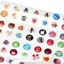Fashion 330pcs Love Cartoon Rubber Home Button Sticker for iPhone for ipad Decor