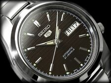 Seiko 5 Men's SNK605K1 Stainless Steel Automatic 21 Jewels Day Date Watch
