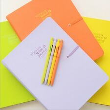 """Color Magic B5"" Cute Diary Lined Planner Journal Big Notebook with Pen Envelope"