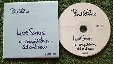 """PHIL COLLINS """"Love Songs...A Compilation (SAMPLER)"""" SPAIN PROMO CD Single 2004"""