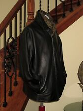 Men's 100% Leather Black WILSONS LEATHER Jacket Large