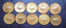 10 Coins LOT - MIXED - Lotus Nickel Brass 20 Paise - india