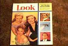 LOOK MAGAZINE 1951 AUG 14  FINE+ FILE COPY HOLLYWOOD STAR VINTAGE ADS