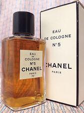 Vintage RARE 1970s Chanel No 5 LARGE 4 oz 118 ml Eau de Cologne - OLD FORMULA