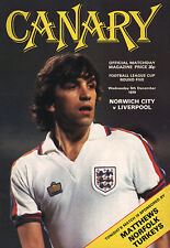 1979/80 Norwich City v Liverpool, League Cup, PERFECT CONDITION