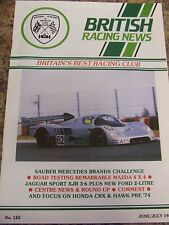 BRITISH RACING NEWS MAGAZINE #125 JUN 1989 SAUBER MERC BRANDS MAZDA JAG SPORT HO