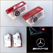 NEW (2PC) W205 W212 C E MERCEDES-BENZ AMG LOGO DOOR PANEL LED PROJECTOR LIGHT