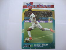2014 Free Lions Fanzine Issue 133 Uruguay v England World Cup Group Match MINT
