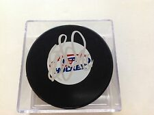 Blake Wheeler Signed Team USA U.S.A Hockey Puck Winnipeg Jets Autographed b