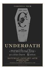 Underoath Original Concert Poster FAREWELL TOUR 2013 FINAL SHOW EVER