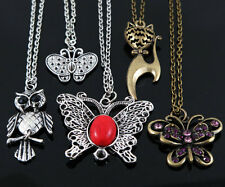 5Pcs Wholesale Jewelry Lot Mixed cute Owl / butterfly Pendant Necklace M77