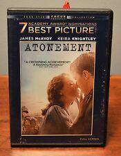 ATONEMENT DVD James McAvoy Keira Knightley